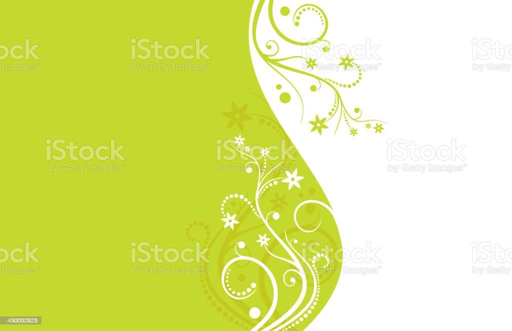 Green and white flower vector background royalty-free stock vector art
