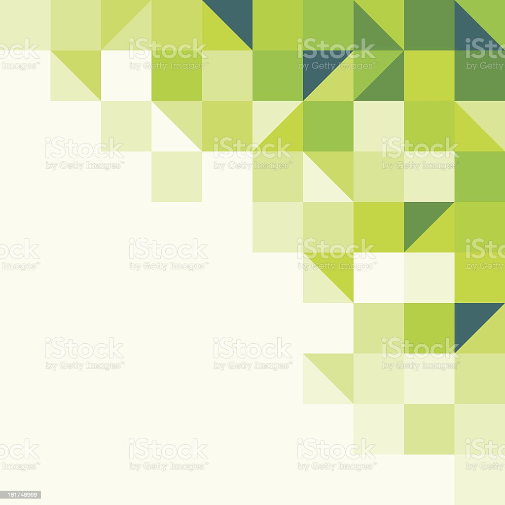 Green and white geometric background vector art illustration