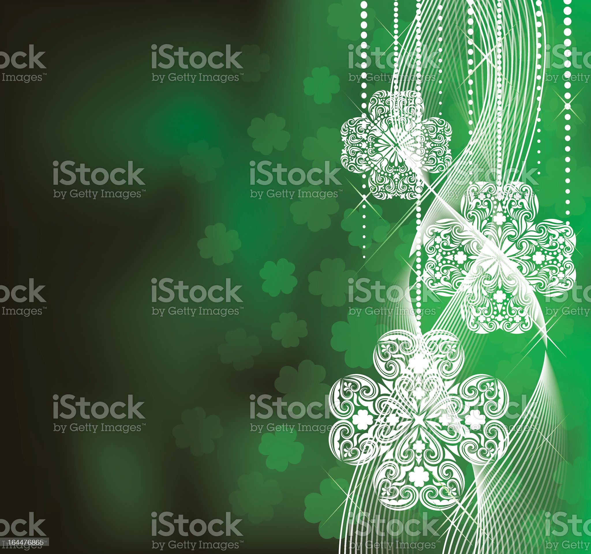 A green and white St. Patrick's Day background royalty-free stock vector art
