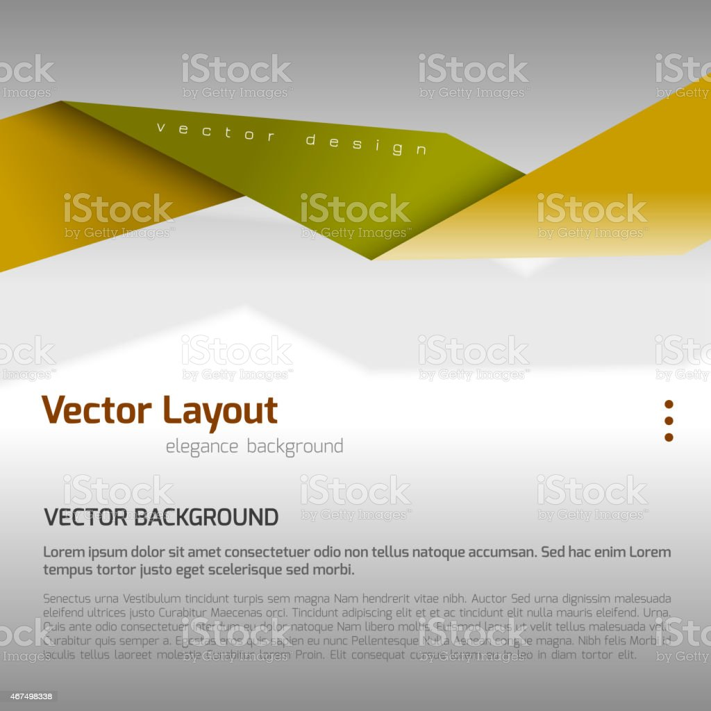 Green and yellow abstract banner layout vector art illustration