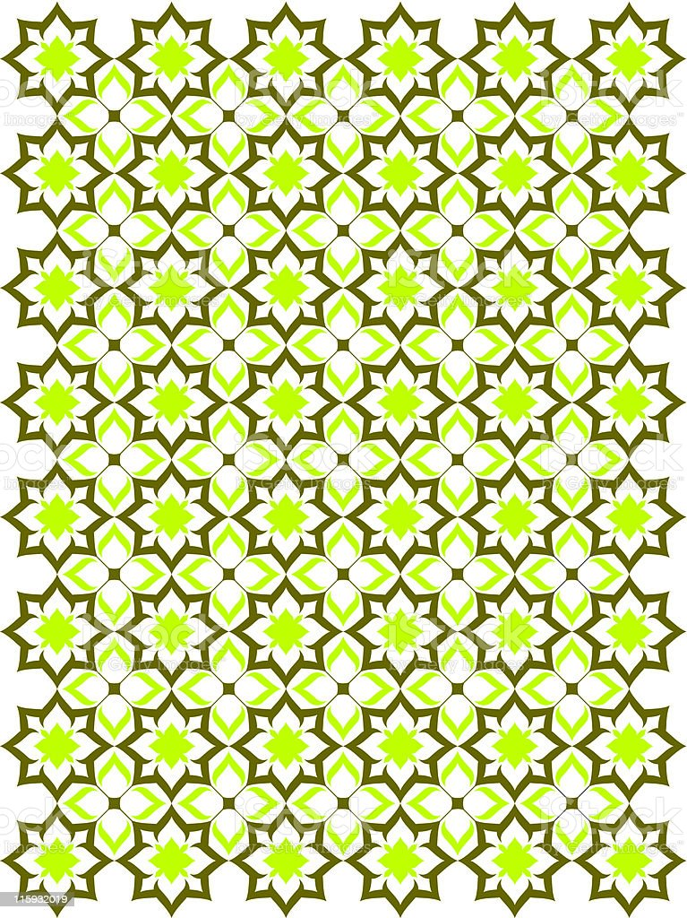 Green and yellow endless elegant classic pattern royalty-free stock vector art