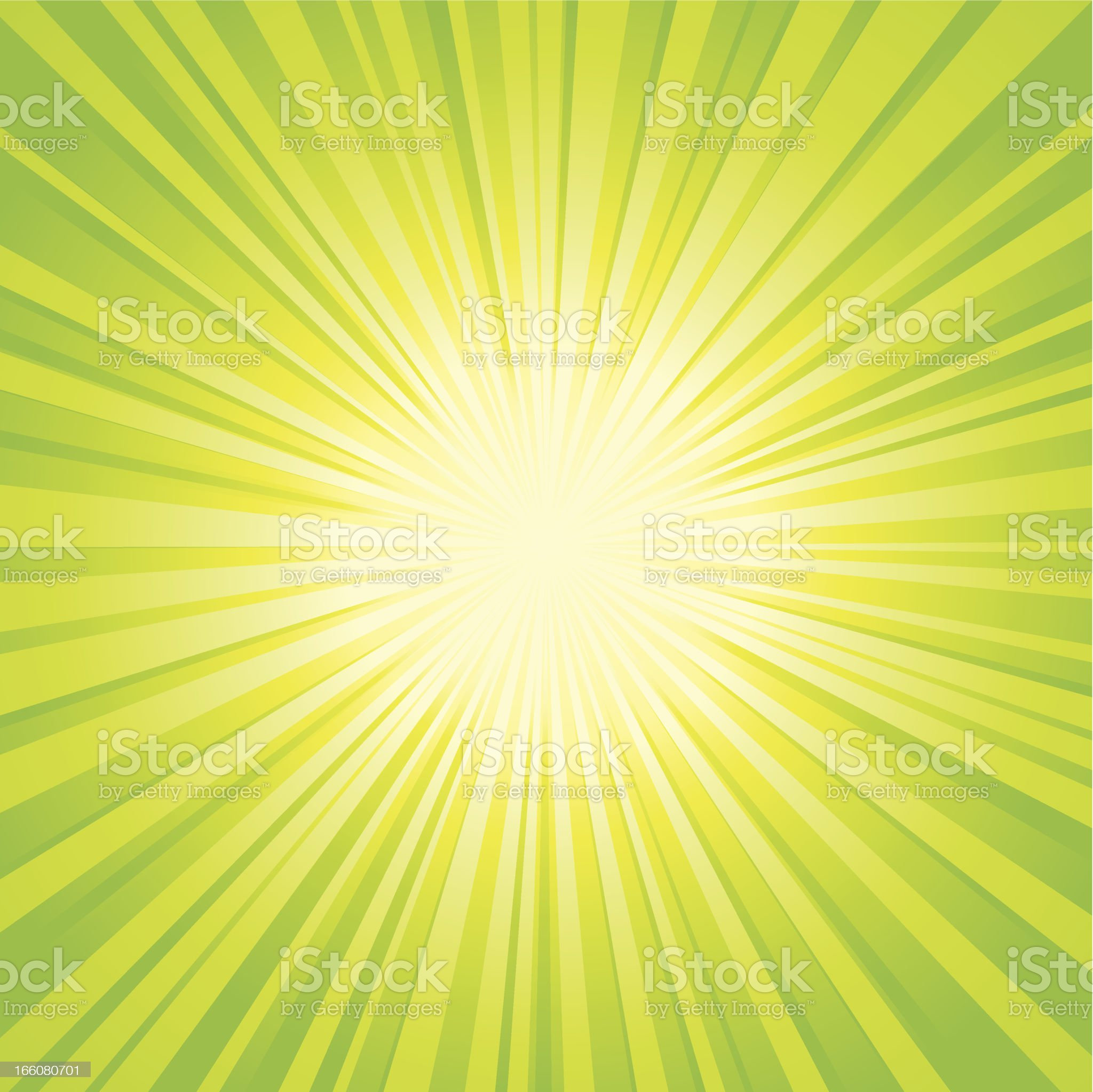 Green and yellow sunbeam backgrounds royalty-free stock vector art
