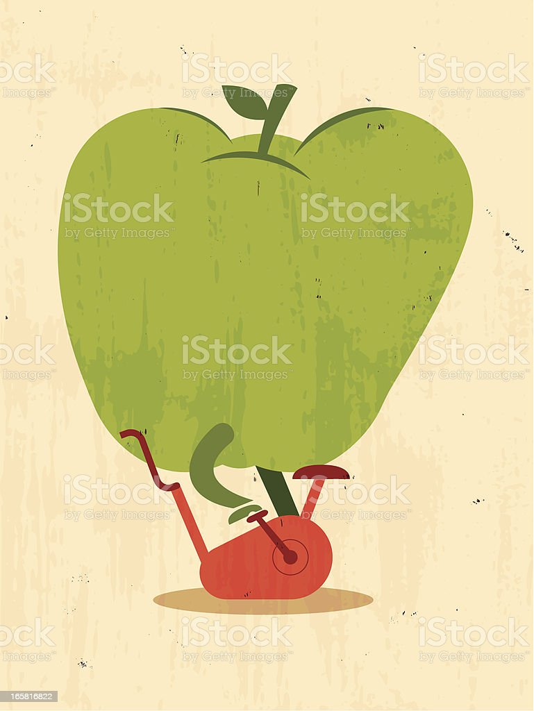 green apple go in for sports royalty-free stock vector art