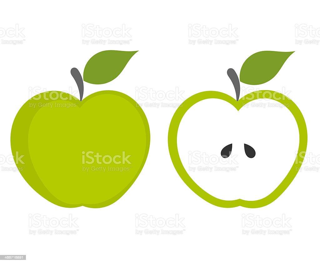 Green apple royalty-free stock vector art