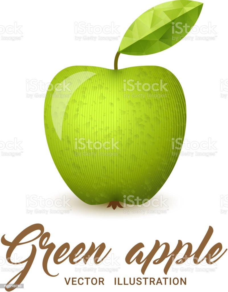 Green Apple vector illustration vector art illustration