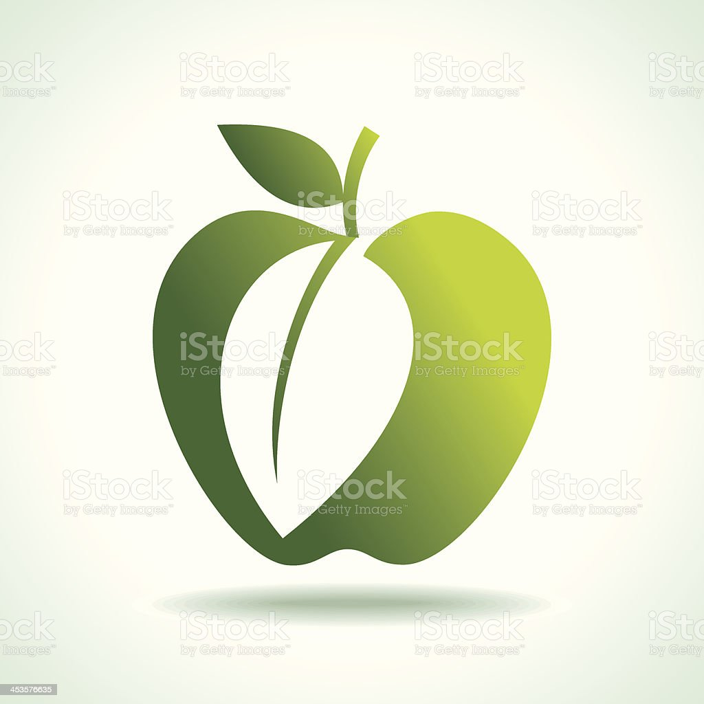 green apples organic food royalty-free stock vector art