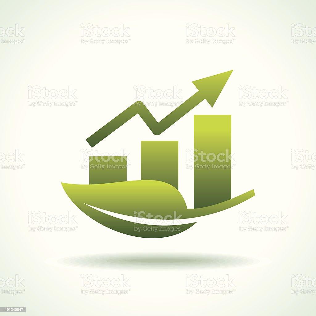 green arrow diagram chart vector art illustration