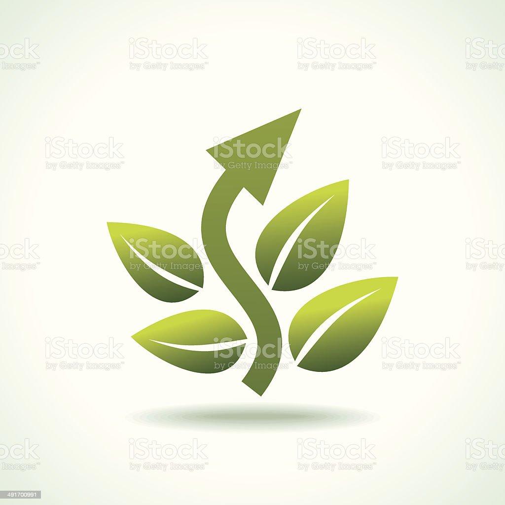 Green arrow sign royalty-free stock vector art