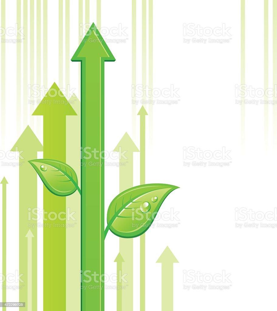 Green arrow royalty-free stock vector art