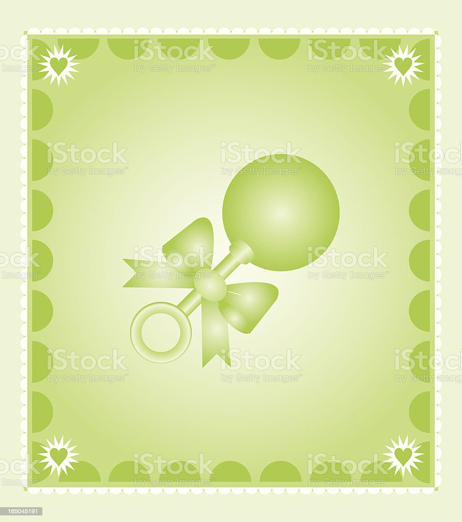 Green Baby Rattle royalty-free stock vector art