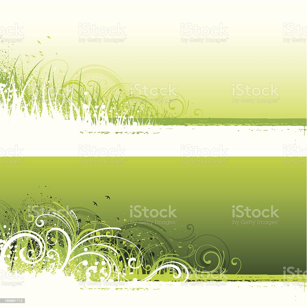 Green background strips royalty-free stock vector art