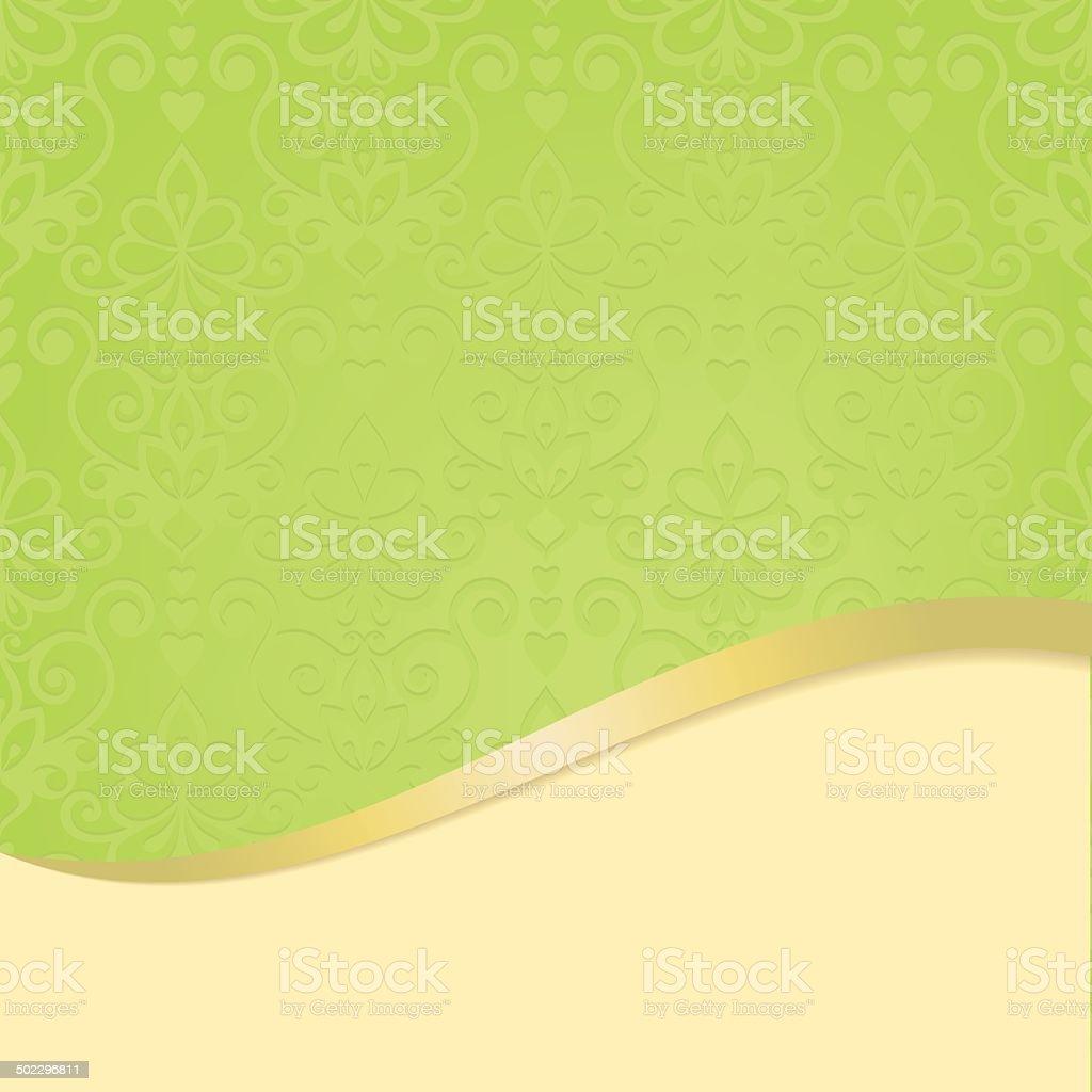 green background with shamrock - Illustration vector art illustration