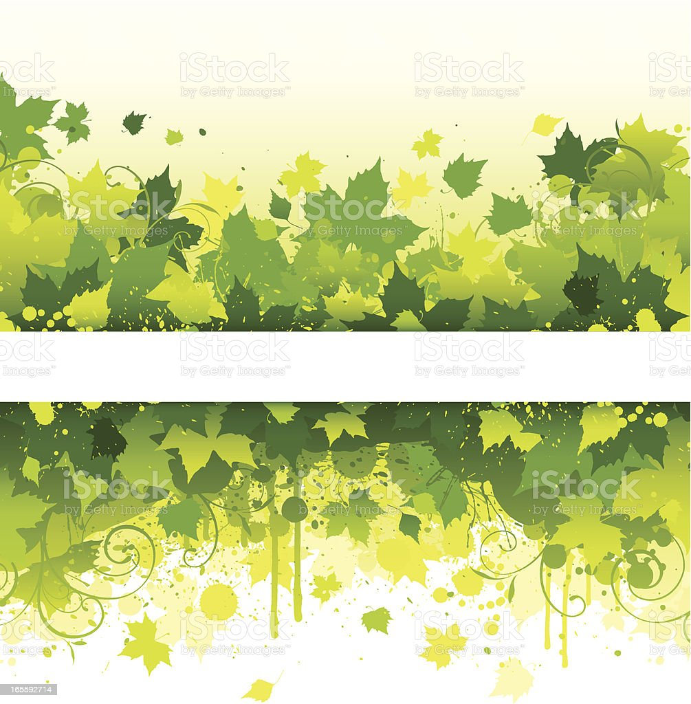 Green backgrounds royalty-free stock vector art