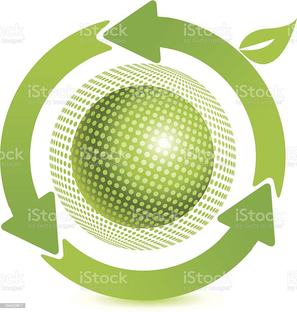 green ball royalty-free stock vector art