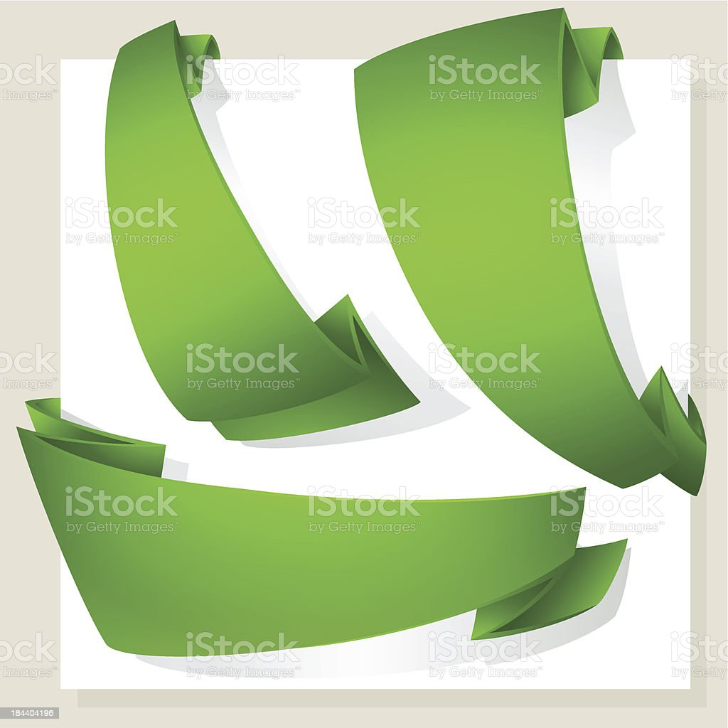 green banners,vector set royalty-free stock vector art
