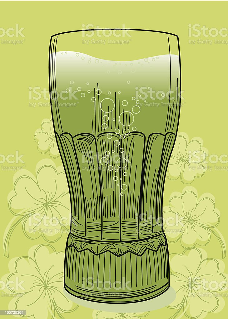 Green Beer for St. Patrick's Day royalty-free stock vector art