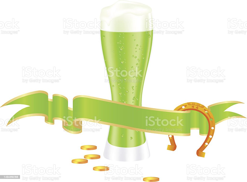Green beer royalty-free stock vector art