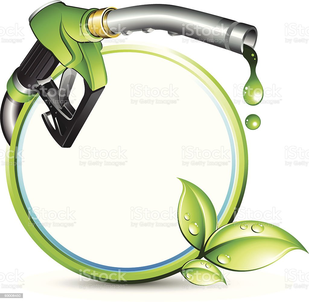 Green biofuel royalty-free stock vector art