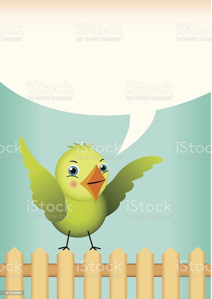 Green bird tag label royalty-free stock vector art