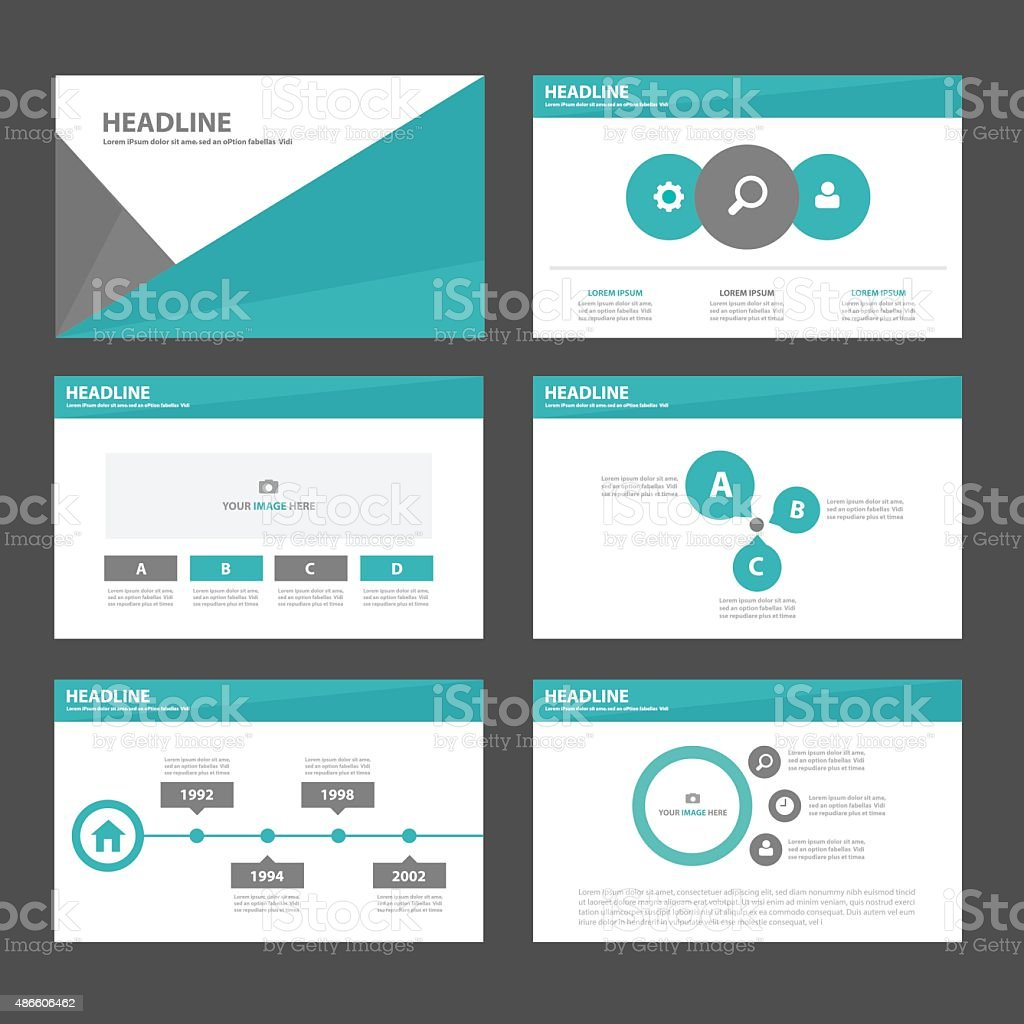 Green black Multipurpose Infographic elements presentation template flat design vector art illustration