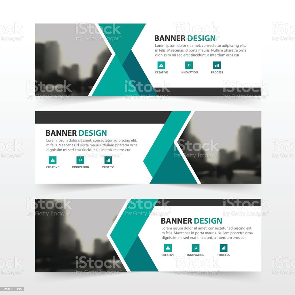 green black triangle corporate business banner template horizontal