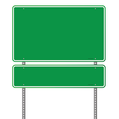 Road Sign Clip Art, Vector Images & Illustrations - iStock