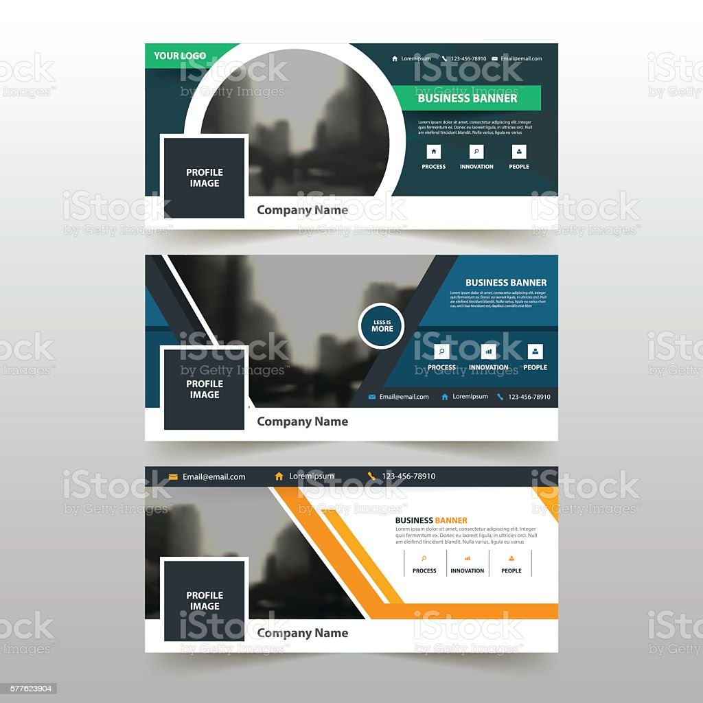 green blue yellow circle abstract corporate business banner