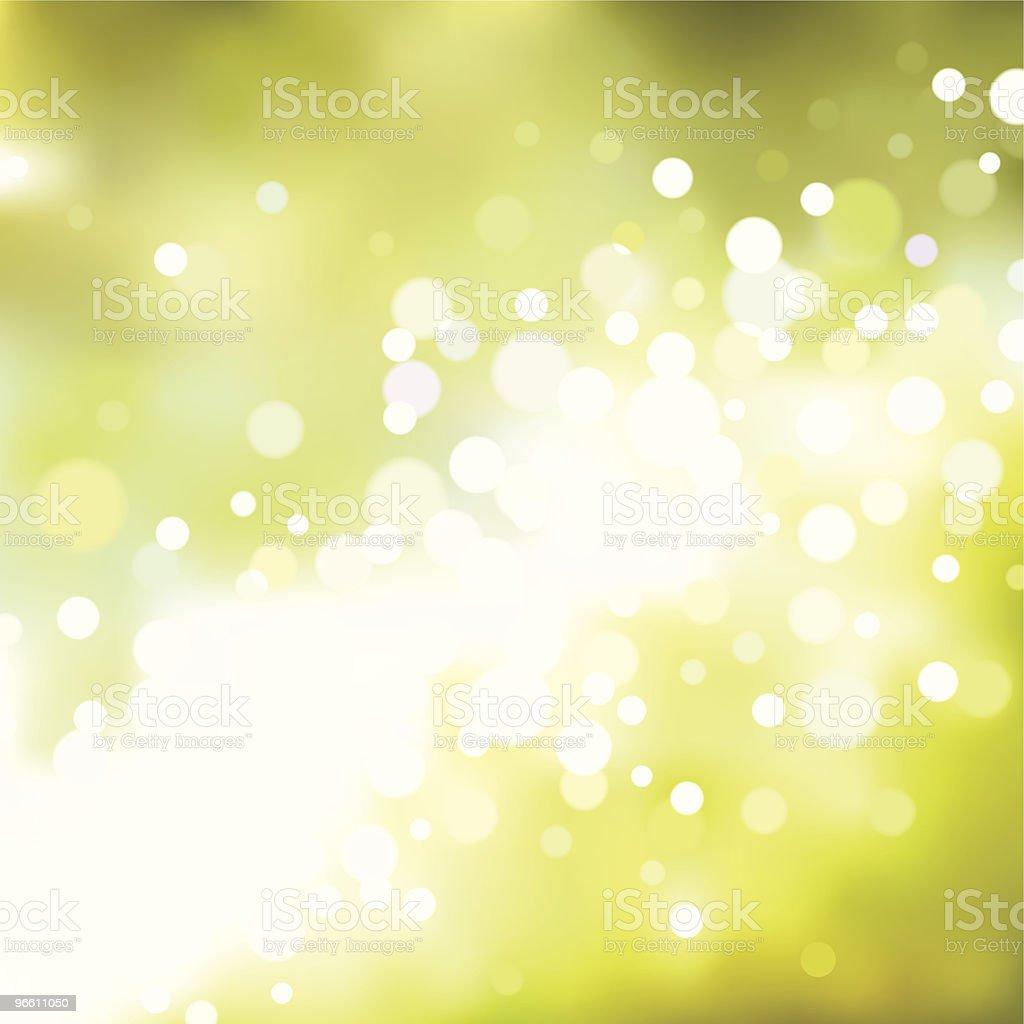 Green blurry lights. EPS8 royalty-free stock vector art