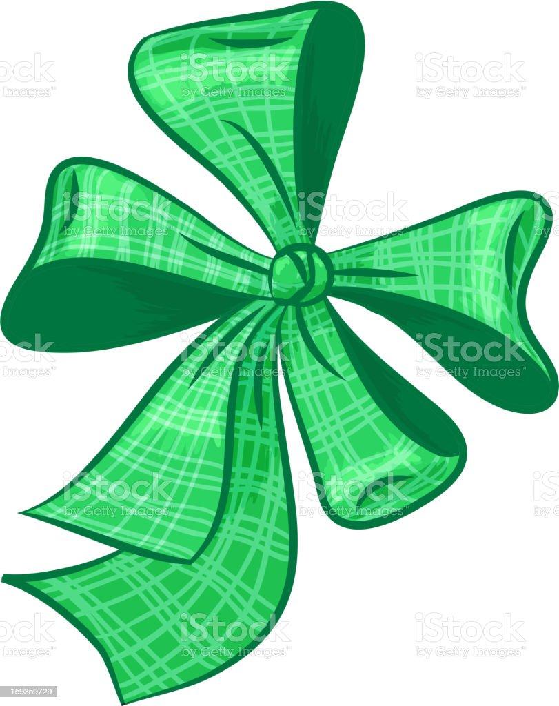 green  bow royalty-free stock vector art