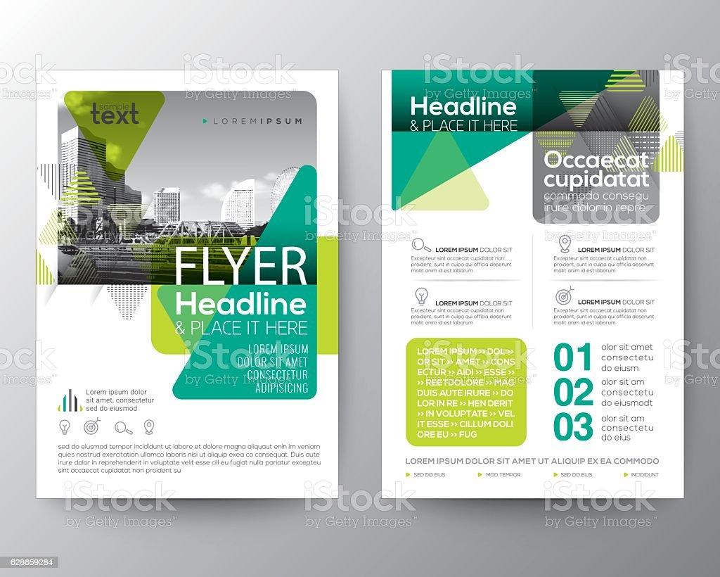 Green Brochure cover Flyer Poster design Layout template vector art illustration