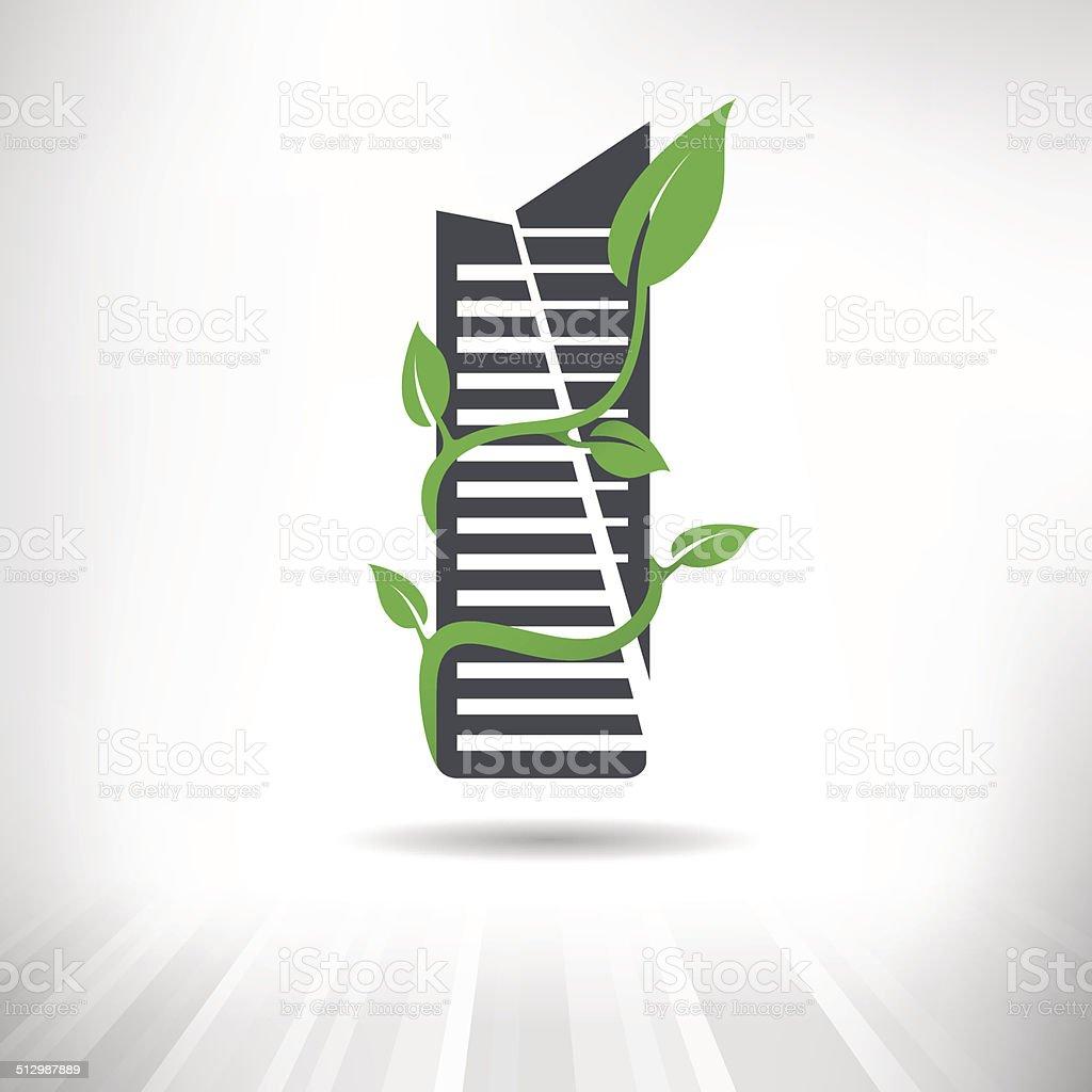 Green Building Concept vector art illustration