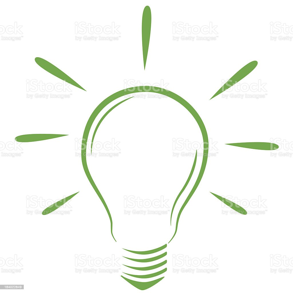 Green bulb royalty-free stock vector art