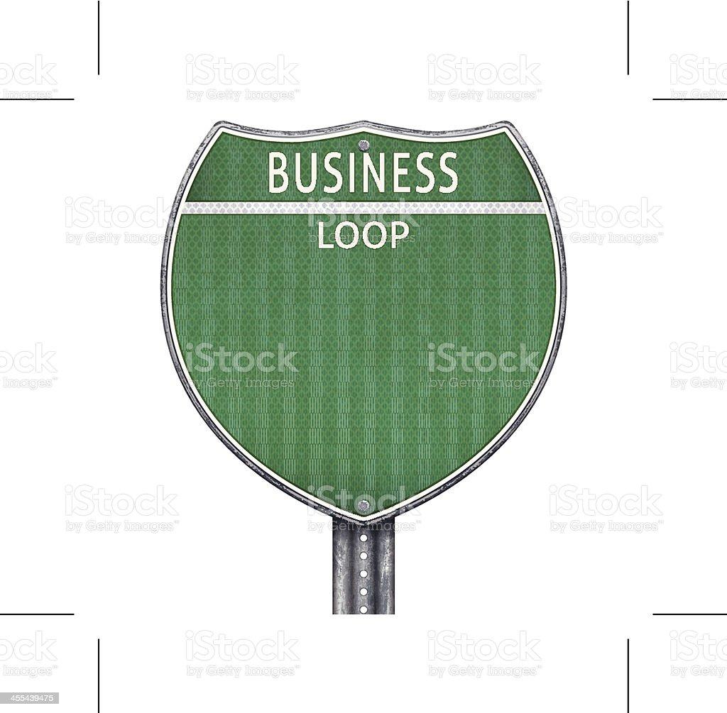 Green business loop road sign royalty-free stock vector art