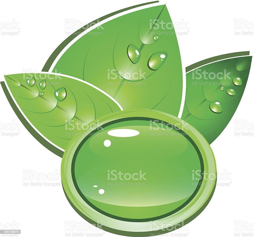Green button royalty-free stock vector art