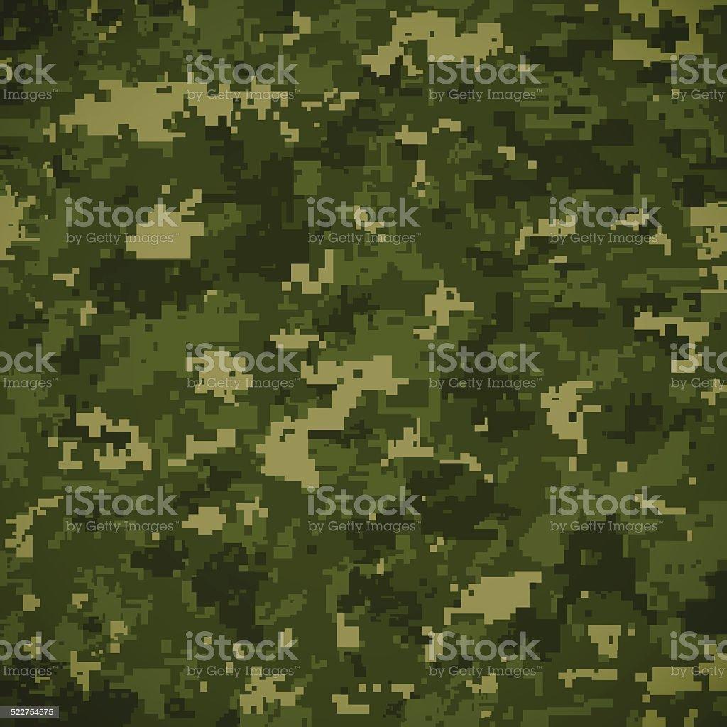 Green Camoflage Pattern vector art illustration