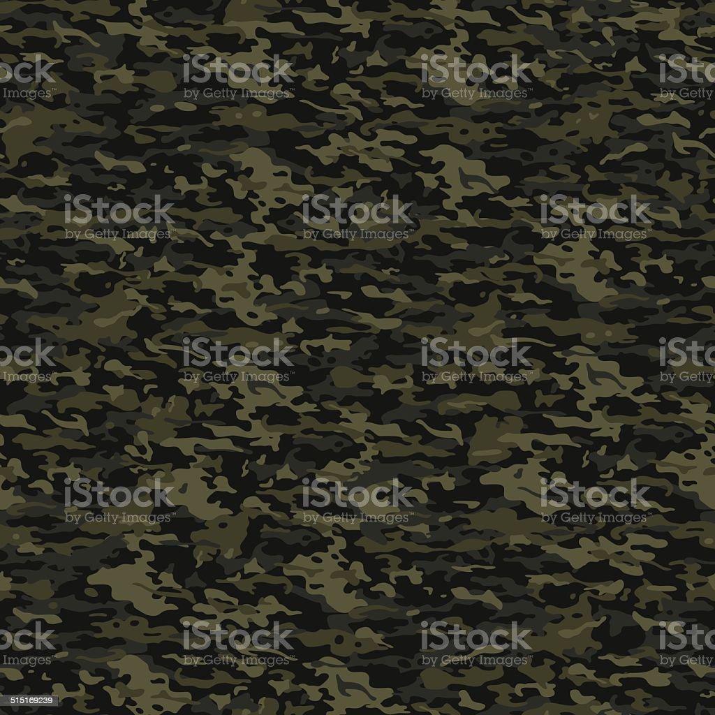 Green camouflage pattern vector art illustration