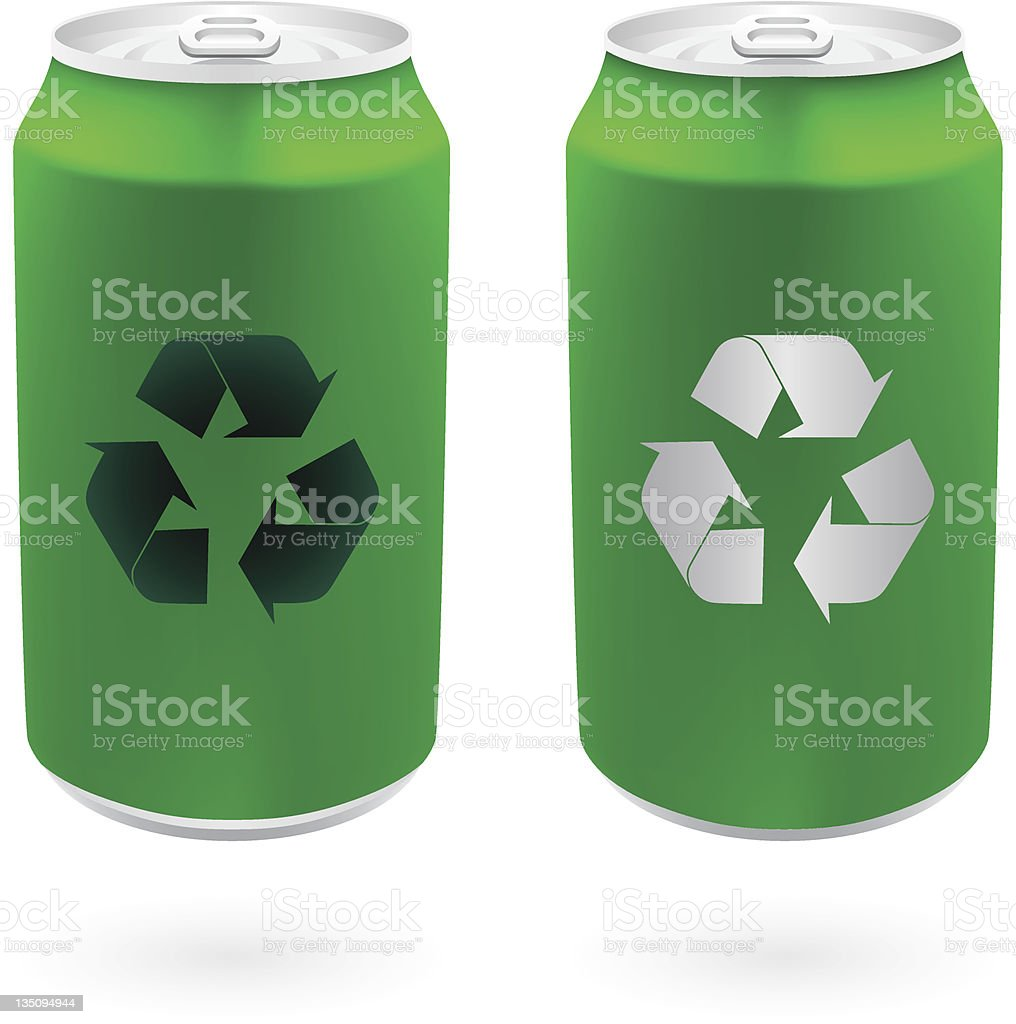 Green Cans vector art illustration