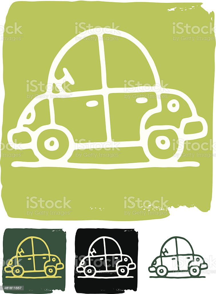Green car icon royalty-free stock vector art