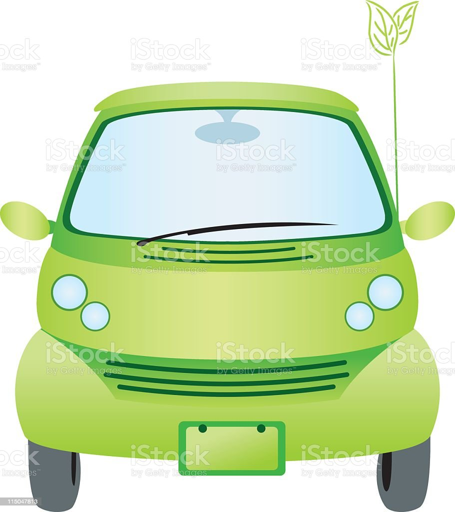 Green Car royalty-free stock vector art