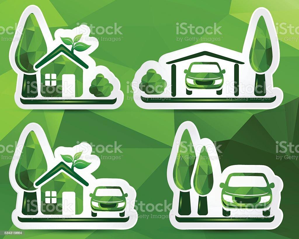 Green Car vector art illustration