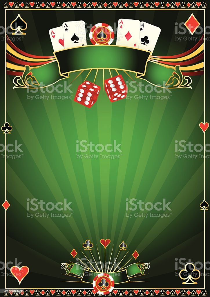 Green Casino background vector art illustration
