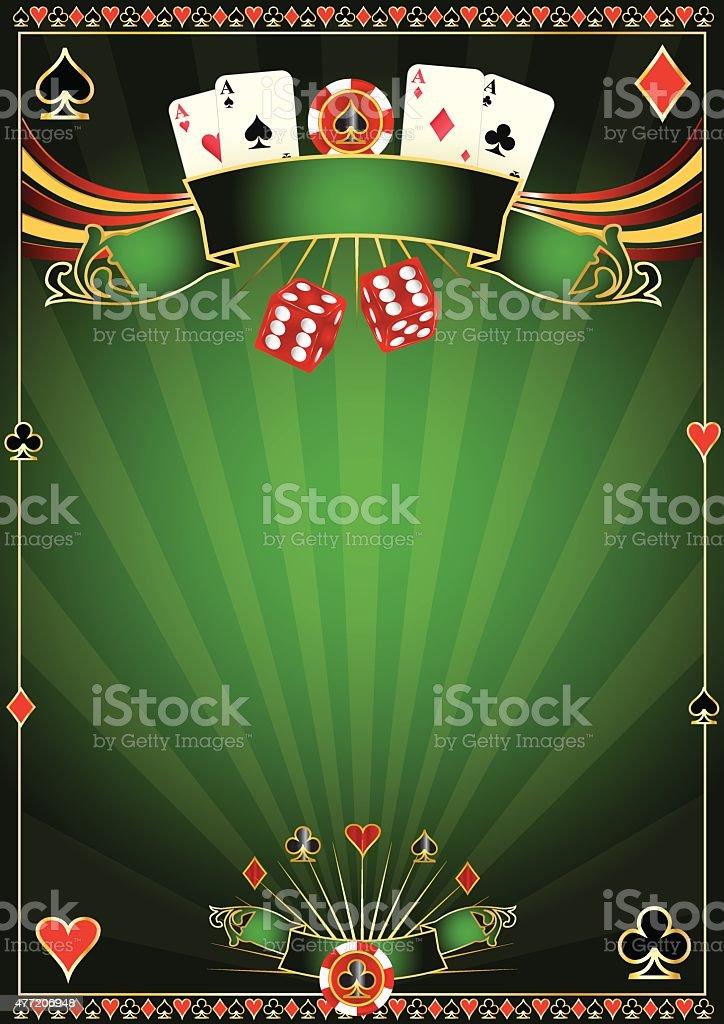 Green Casino background vector art illustration
