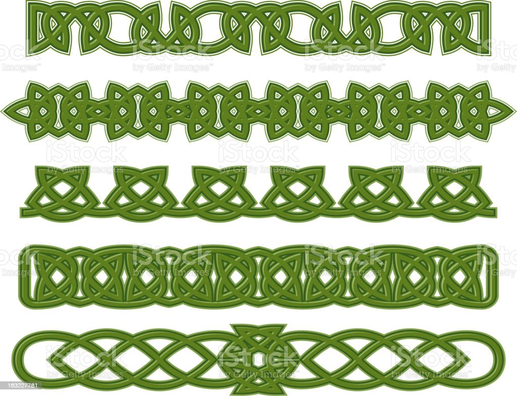 Green celtic ornaments royalty-free stock vector art