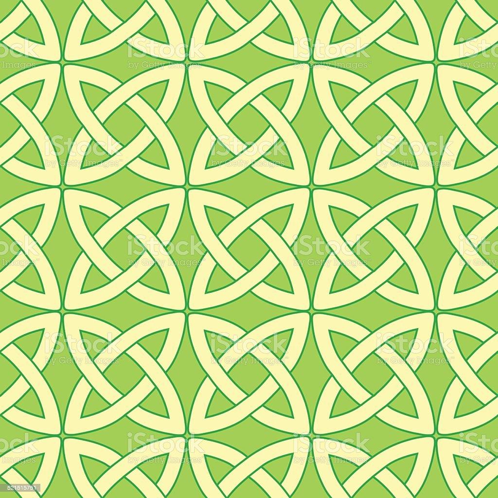 green celtic pattern vector art illustration
