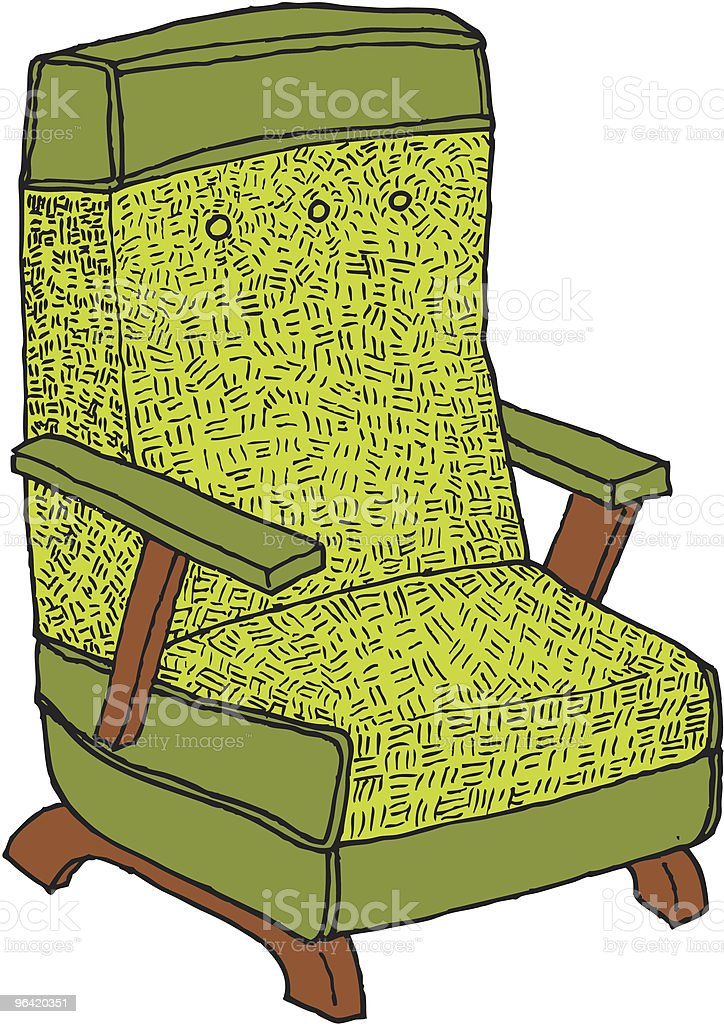 green chair royalty-free stock vector art