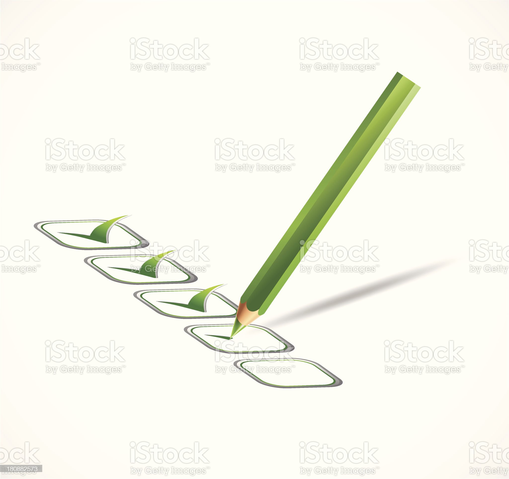 Green check list. Vector illustration royalty-free stock vector art
