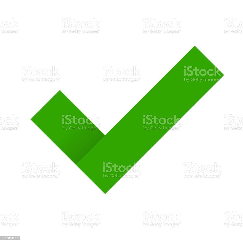 Green Check Mark. Vector royalty-free stock vector art