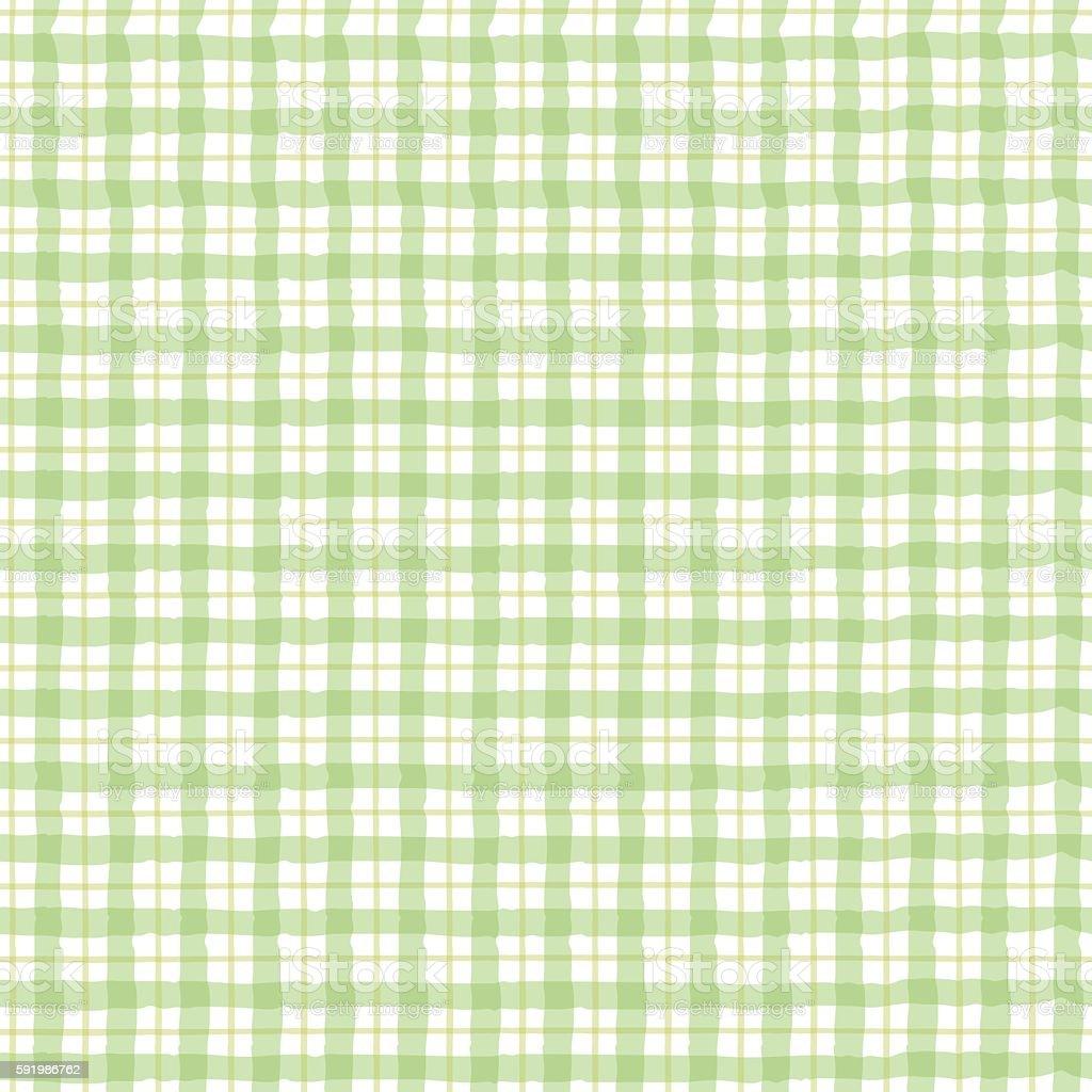 Green checkered pattern vector art illustration