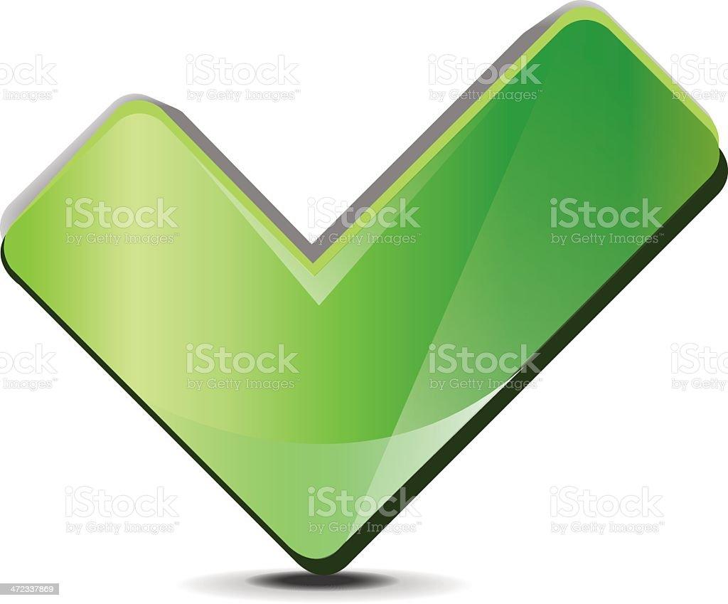 Green Checkmark royalty-free stock vector art