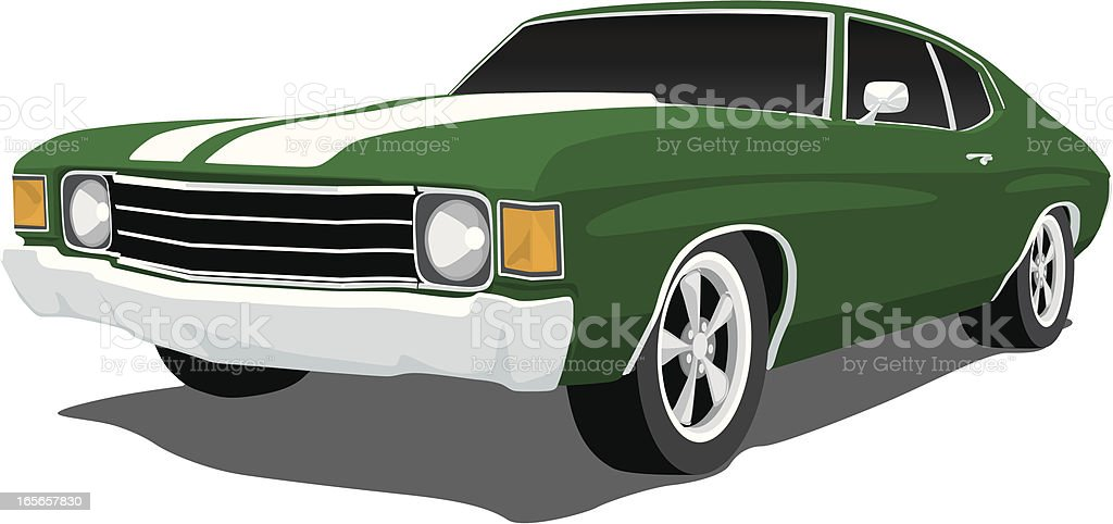 Green Chevelle SS vector art illustration